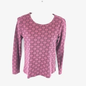 Time and Tru Floral Pink Long Sleeve Top S